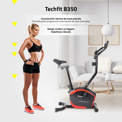 Bicicleta fitness exercitii TECHFIT B350
