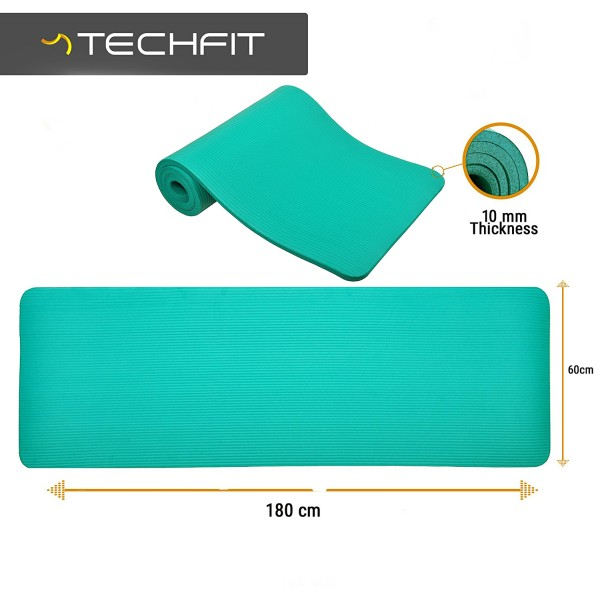 Saltea yoga verde TECHFIT EXERCISE MAT