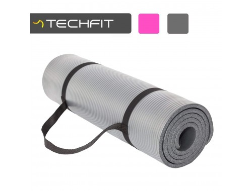 TechFit Yoga Mat Extra Thick with Carry Straps