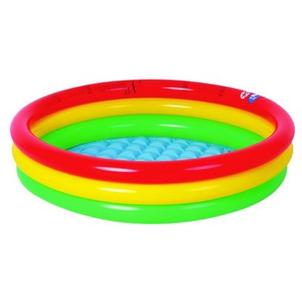 Piscina Gonflabila Jilong, 3 cercuri colorate,  Varsta recomandata: 24 luni - 6 ani