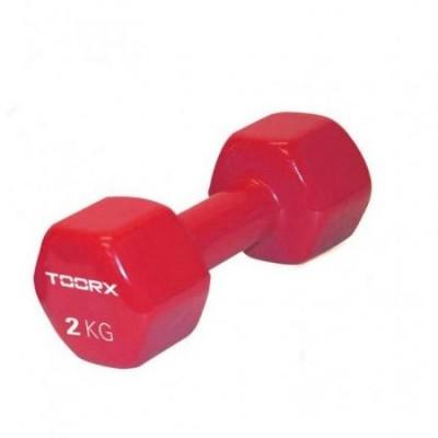 Gantera PVC TOORX 2 kg Rosu