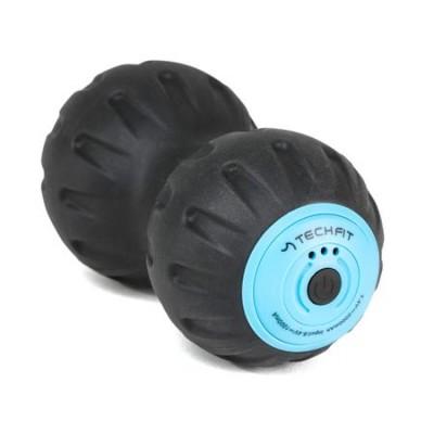 Minge fitness cu design inovativ pentru exercitii, tip aluna cu vibratii TECHFIT, Albastra