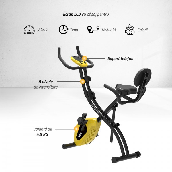 Bicicleta verticala magnetica pliabila XB300 Resigilat